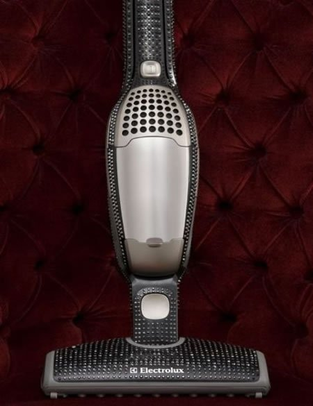 Electrolux announces the crystal studded ErgoRapido vacuum cleaner :  swarovski designer crystallized crystal