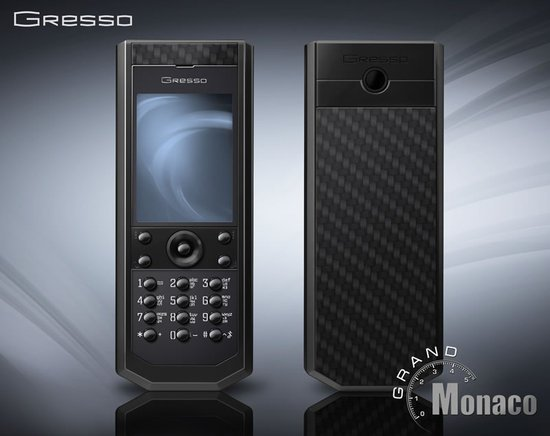Gresso Pure Black phone adds up to the Grand Monaco collection