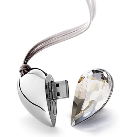 Gadget, shop online  » Crystal-clad USB flash drive, by Phillips and Swarovski , Blog Archive by TechChee.com