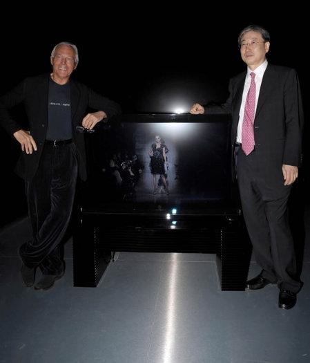 Giorgio Armani unveils the new Armani/Samsung premium LCD television