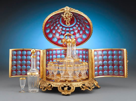 Baccarat Ruby Glass CavC3A9 Liqueur set 2 - Polling Of Life style Comp May 2012