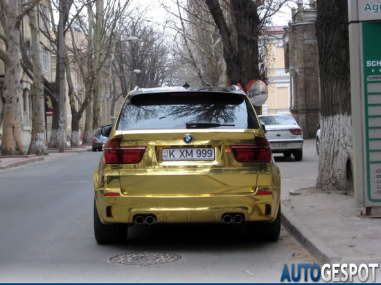 Gold Wrapped Bmw X5 M Seen In Moldova