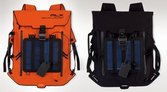 ralph lauren solar powered waterproof backpack Solar Powered Backpack Can Charge You Cell Phon