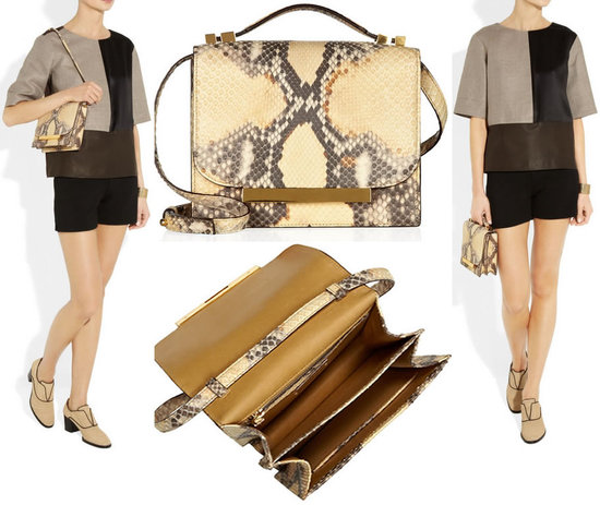 The Row Python shoulder bag is elegant