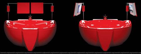 Овальная гидромассажная ванна WGT WATER HALL RED DIAMOND.