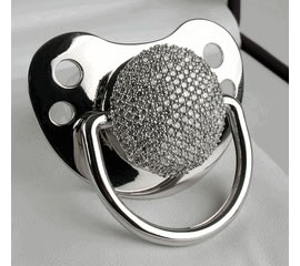 $17k Diamond Pacifier for Bradgelinas daughter - Luxurylaunches.com
