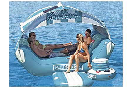 Cabana Islander- floating island paradise - Luxurylaunches.com