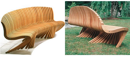 Spirit Song Bench- revolutionary al fresco bench - Luxurylaunches.com