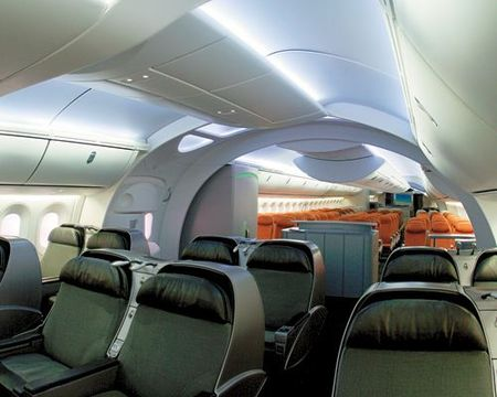 Plane  on Boeing Unveils The New 787 Dreamliner Airplane
