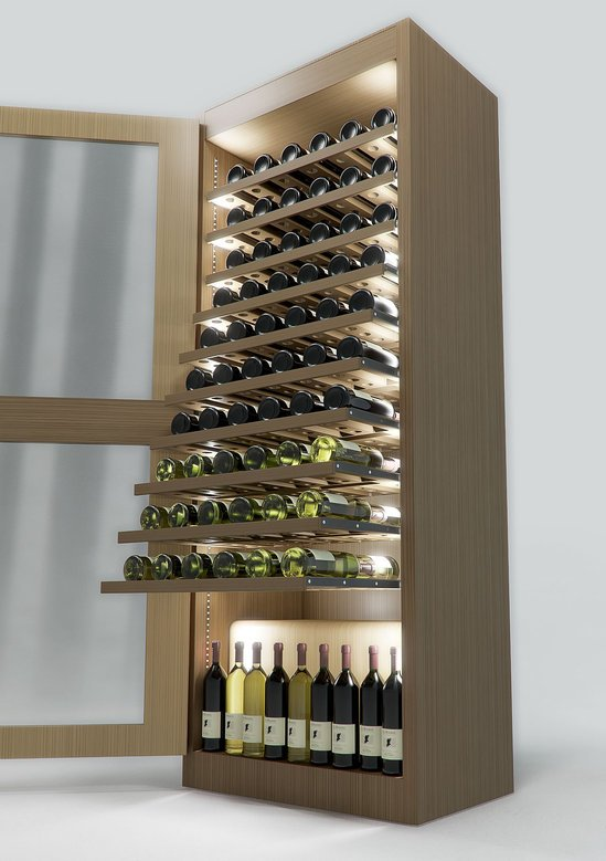Sand & Birch designs climate controlled Regency Wine Cellar