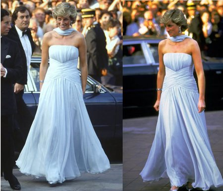 princess diana death. Princess Diana#39;s gown for