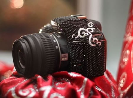 Blinged up Pentax K-m DSLR is ideal for women - Luxurylaunches.com :  women crystals studded swarovski crystals