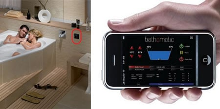 Control your Bathomatic bubble baths with the iPhone - Luxurylaunches.com :  digital bubbles remote control tech