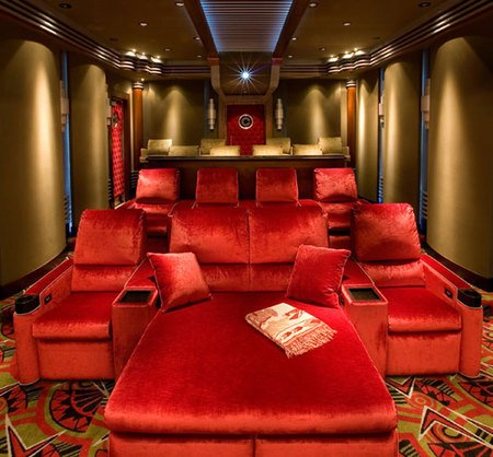 Custom-built home theatre is worth $300,000 and fabulous - Luxurylaunches.com :  diffusers drink holder omni