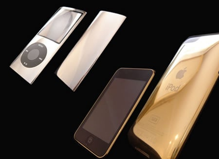 Goldstriker lets you pimp up your iPod in gold - Luxurylaunches.com :  cell phone gold bling cell