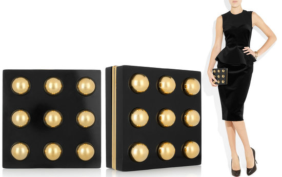 Stella McCartney Colette plexiglass square clutch goes well with anything in your closet