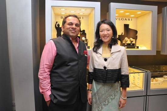 Weiling Wong, Managing Director, Bulgari SEA and India with Biren Vaidya, Managing Director, Rose Group of Companies  posing at.jpg