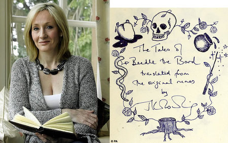 JK Rowling's latest 'The Tales Of Beedle The Bard' for $100,000