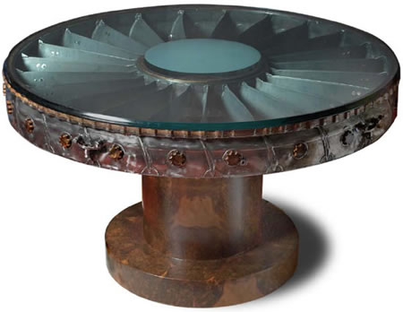 Aircraft Parts on Furniture Made From Retired Aircraft Parts By De Astis For  10 000
