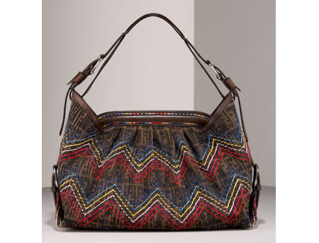 ... your stylish best, Fendi has created its all-new Zig Zag Zucca Hobo Bag.