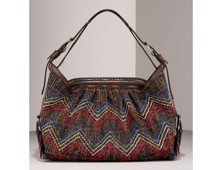 ... your stylish best, Fendi has created its all-new Zig Zag Zucca Hobo Bag.