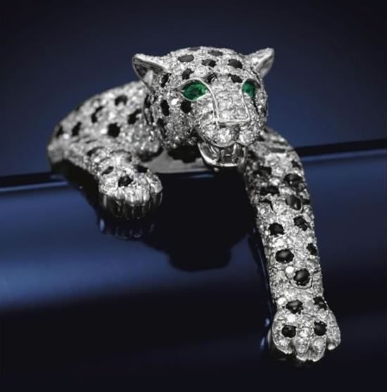 Onyx and Diamond Panther bracelet 1 7 million dollar bracelet