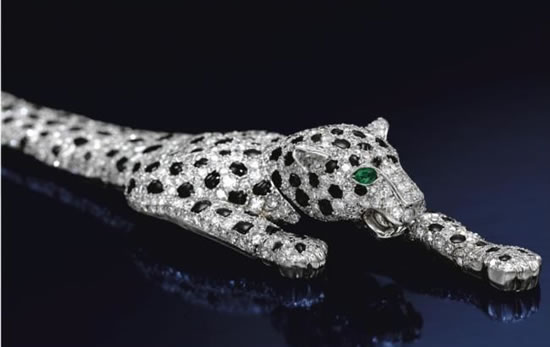 Onyx and Diamond Panther bracelet 3 7 million dollar bracelet