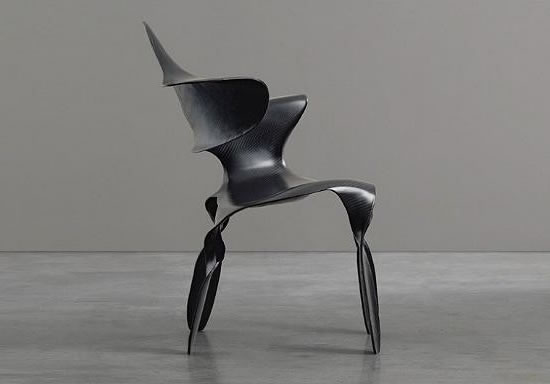 Make an art statement with the carbon fiber Dipinta Di Blue chair