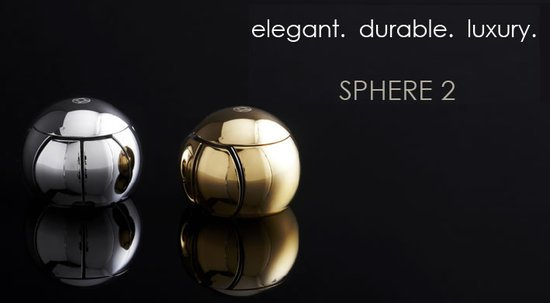 Sphere 2 mouse is made of precious metals