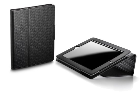 Omega iPad 2 leather sleeve comes with the brand's iconic symbol engraved all over