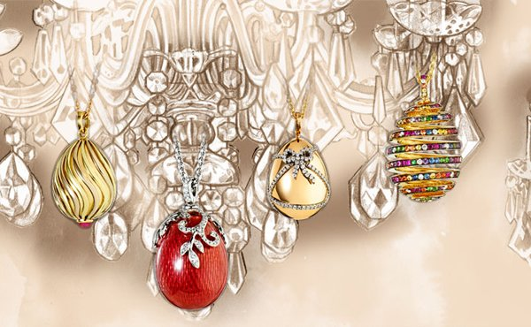 Faberge celebrates Valentine's Day with Oeuf Cadeau, a rose gold egg pendant