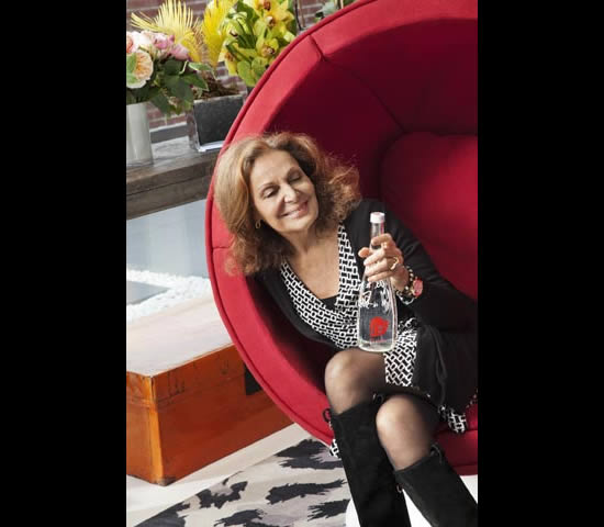 Evian teams up with Diane von Furstenberg for a limited edition bottle