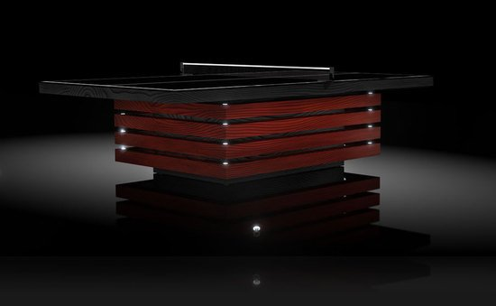 11Ravens' hand crafted Theseus table tennis table makes the game more suave