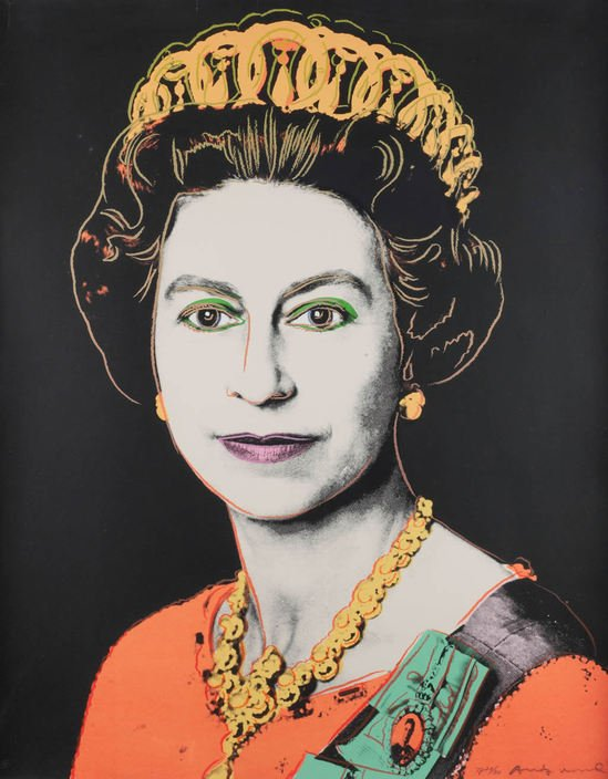 Andy Warhol's 1985 portrait of Queen Elizabeth II is on sale