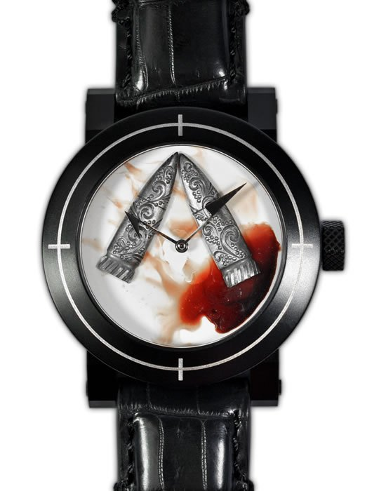 ArtyA Blood and Bullet watch celebrates Halloween