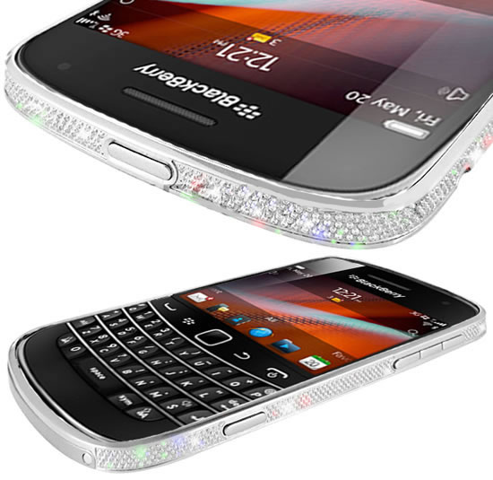 Blackberry 9900 gets a platinum and crystal makeover