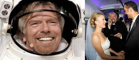 Sir Branson to wed couple in space