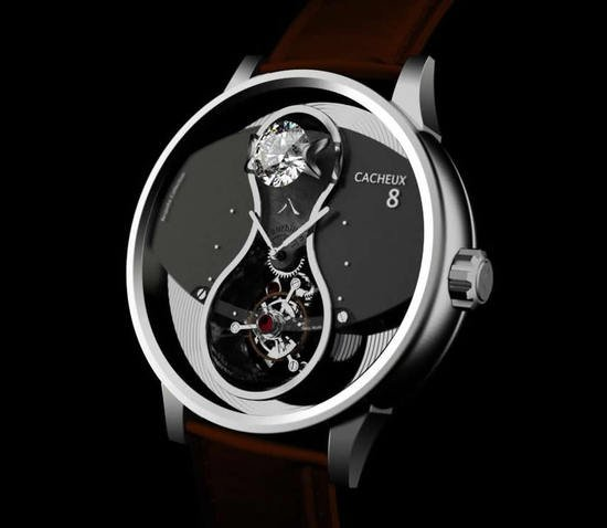 Cacheux 8 watch woos Chinese clients with an eight carat diamond on it