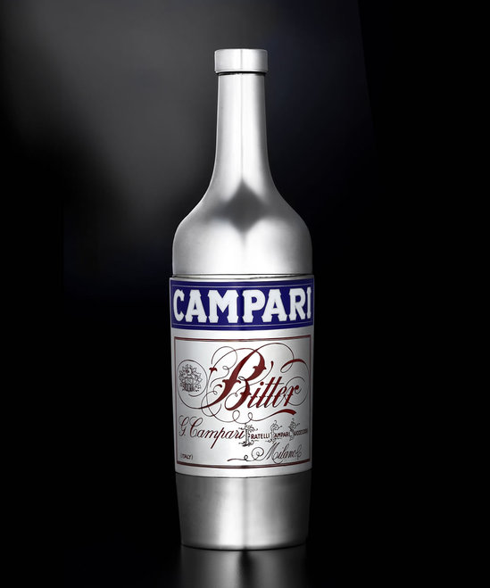 A Campari bottle stylized cocktail shaker is one of the rarest and most desirable