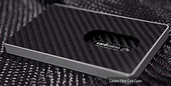 Cardissimo carbon fibre business cards and cases make a statement of cardissimocarbonfibrebusinesscardcaseg colourmoves
