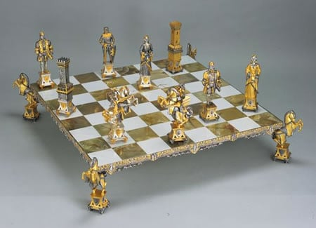 Medioevale Stile (Medieval Style) themed chess pieces with a price tag of $113,580 are a symbol of luxury