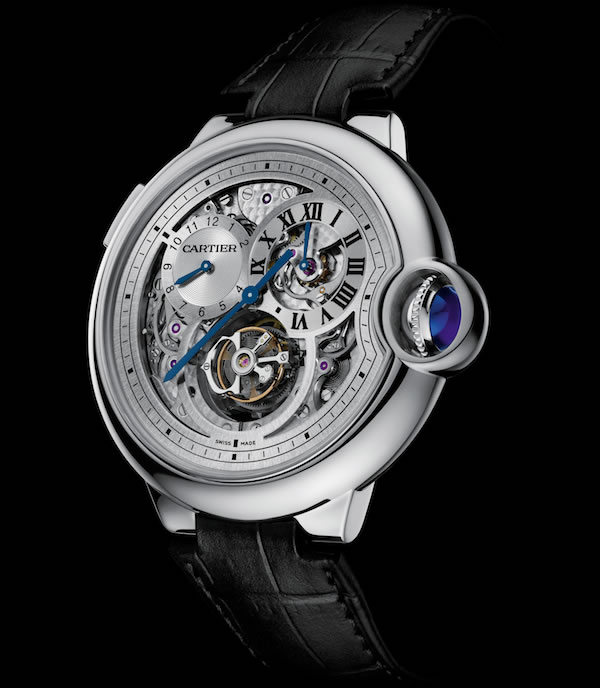 Cartier Ballon Bleu Tourbillon with a double jumping second time zone unveiled