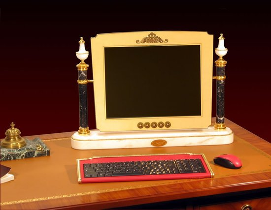 Chirita's bespoken Louis XVI computer to work like a Royal