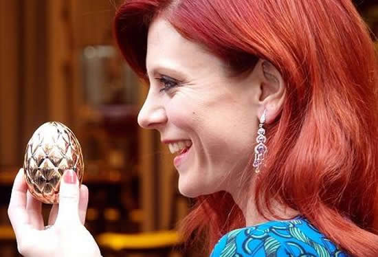 A $150,000 Diamond Jubilee gold egg unveiled as the prize for Faberge Egg Hunt