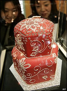 World's most expensive wedding cake adorned with diamonds costs $1.3million
