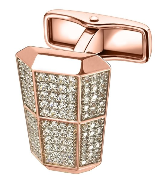 Dunhill London Lantern diamond studded cufflinks for your man this V Day