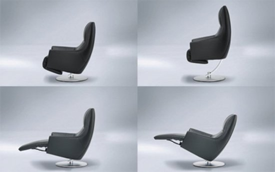 Audioluce reclining armchair comes with an integrated hi fi audio system