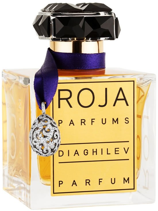 Roja Parfums Diaghilev bottle celebrates Easter with a Fabergé diamond egg pendant