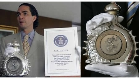 Tequila Ley 925 scores Guinness record for priciest liquor sold