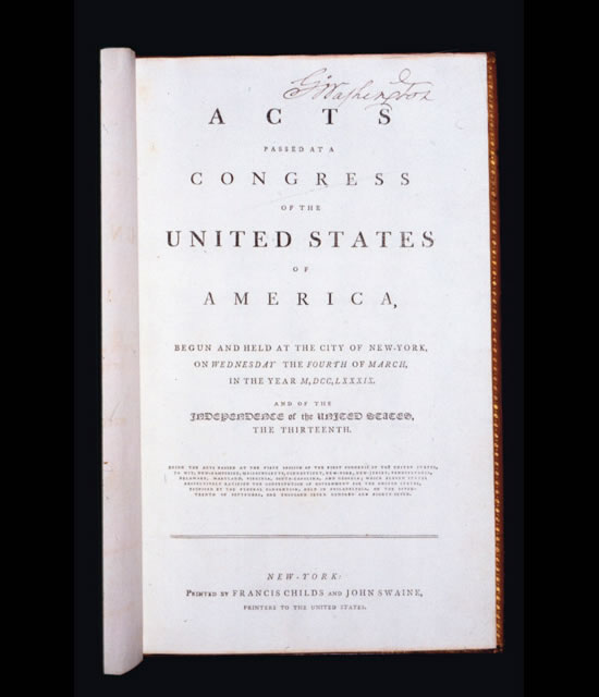 George Washingtons personal copy of the Acts of Congress to go under the hammer